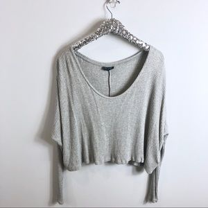 Topshop Gray Cropped Top Size 10